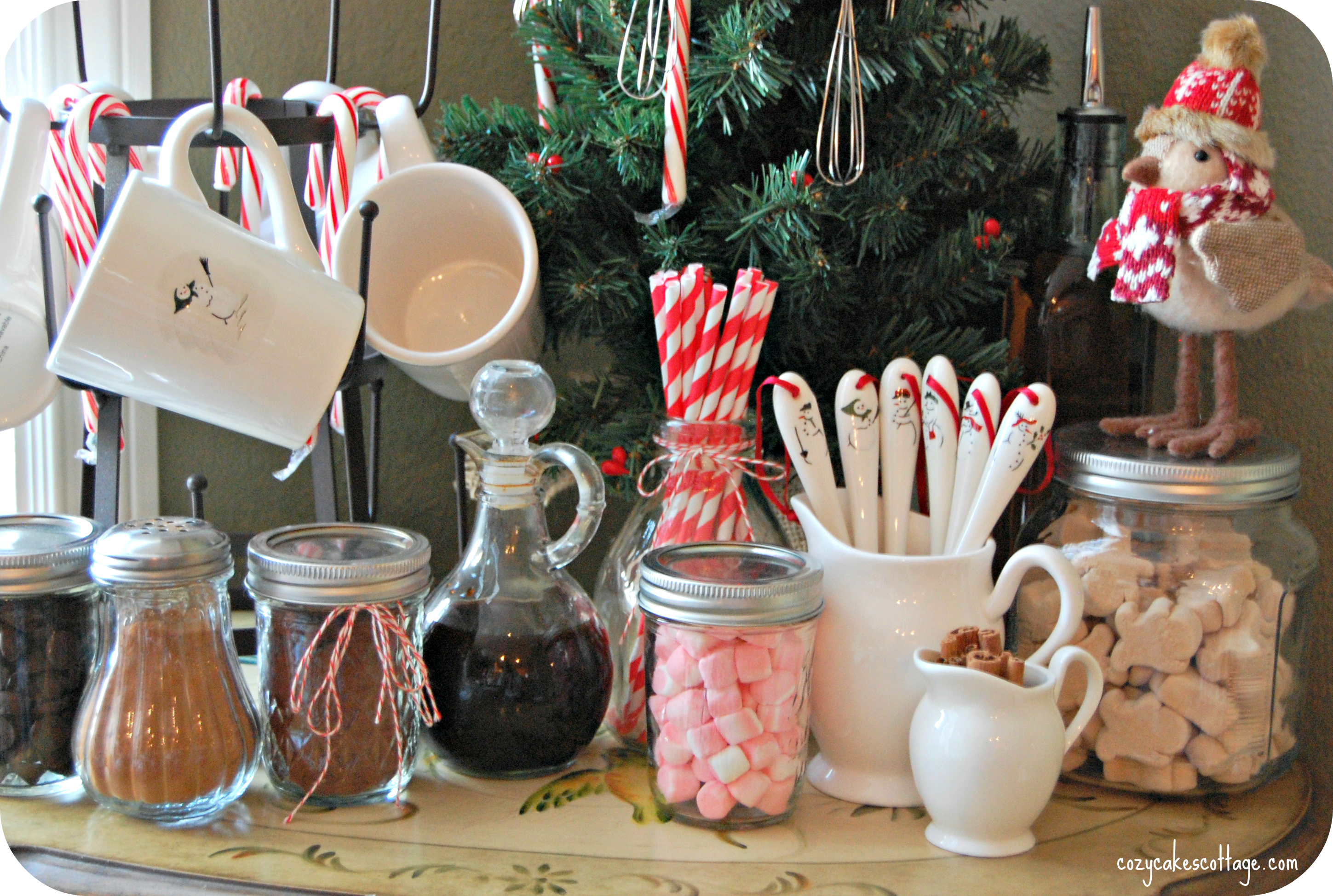 Winter Hot Cocoa Bar | Cozycakes Cottage