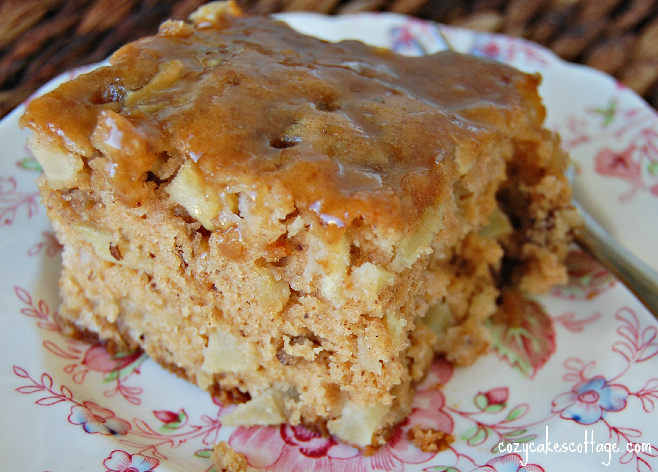 Madeline's Paris Apple Cake with Brown Sugar Glaze | Cozycakes ...