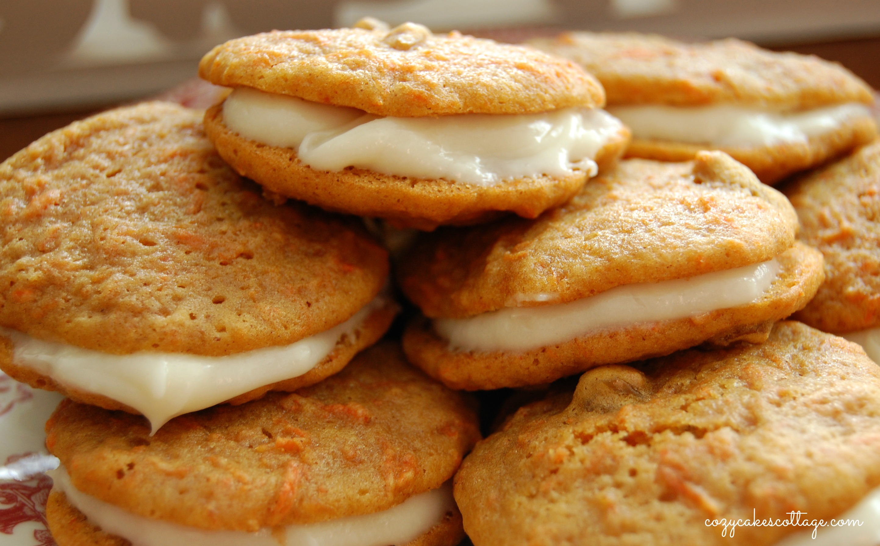 Carrot Cake Whoopie Pies | Cozycakes Cottage