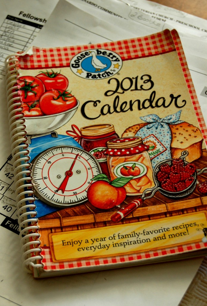 calendar and papers
