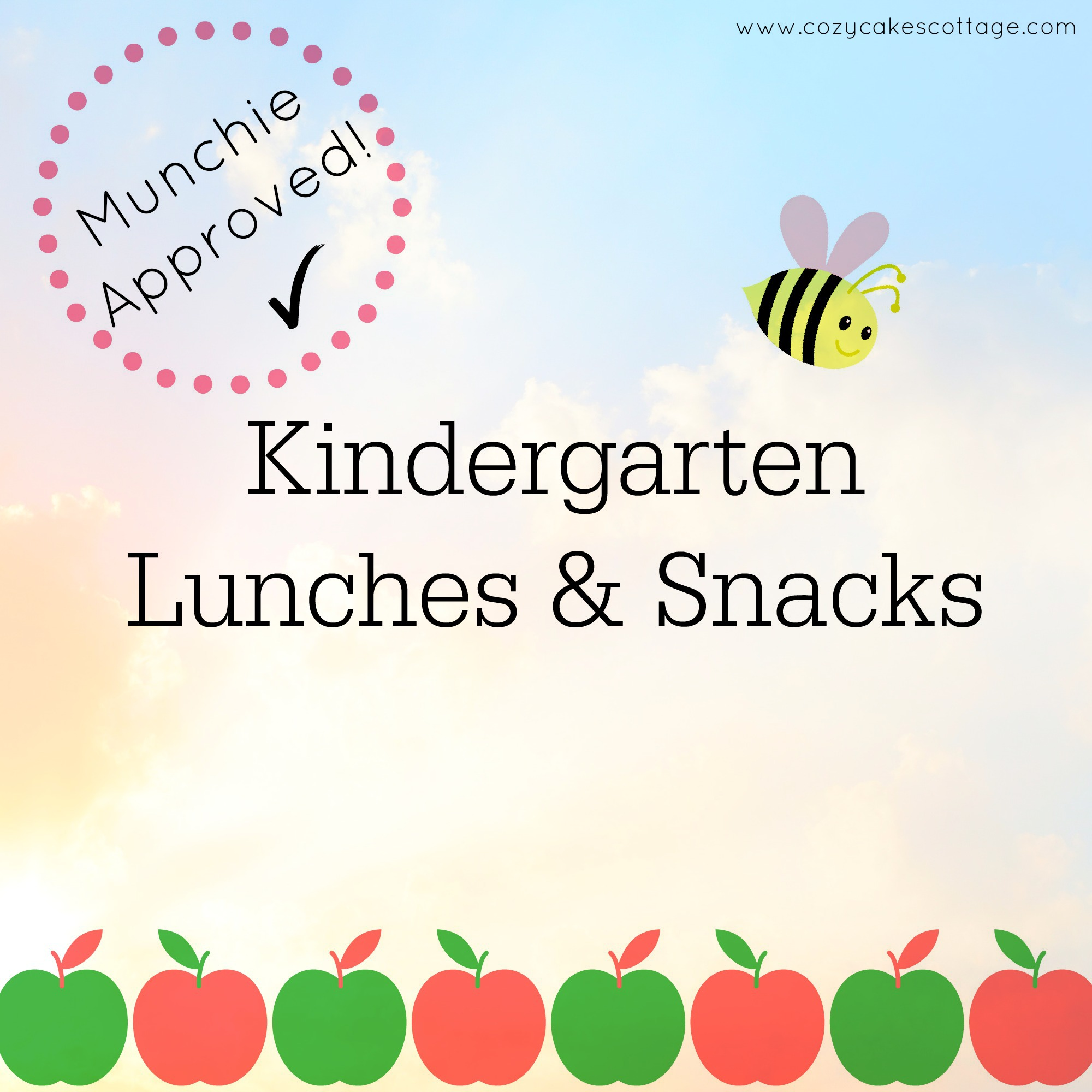 Kindergarten Lunches and Snacks cover pm clouds