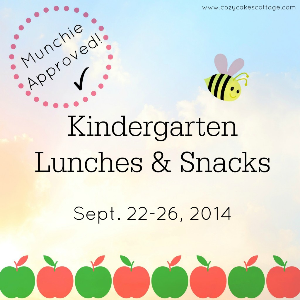 Kindergarten Lunches and Snacks cover sept 22_26 2014