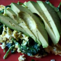 picture egg avo spinach 2 pm
